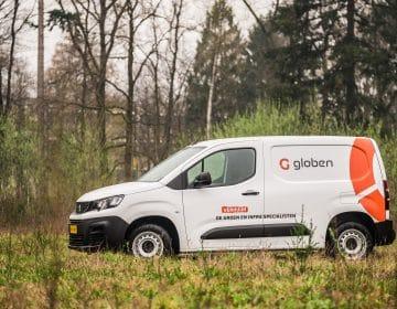 De peugeot partner van Globen Verhuur